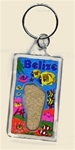 Belize Lucite keychain with sand