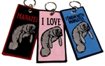 MANATEE KEY RINGS - PINK, BLUE AND BLACK