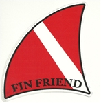FIN FRIEND VINYL DECAL