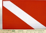 Large Dive Flag Patch -  8.5 x 11