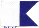 Scuba Flag International Dive Flag Patch- Alpha Flag Large