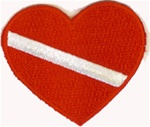 Heart Scuba Patch 2.5""
