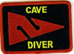 Cave Diver Patch - Rectangle