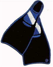 Dive Fins Patch- INTERNATIONAL DIVE FIN PATCH - Wholesale 20 patches