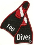 100 Dives Fins Patch