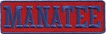 MANATEE PATCH -RED & BLUE