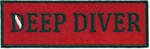 DEEPWATER DIVER - Red and Black stick on patch