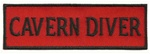 CAVERN DIVER - Red and Black stick on patch