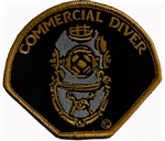 COMMERCIAL DIVER - HELMET PATCH - BLACK -Wholesale