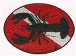 LOBSTER DIVE FLAG PATCH