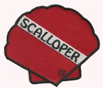 SCALLOPER DIVE FLAG PATCH