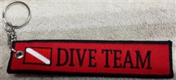 DIVE TEAM  Ring - Zipper Pull-