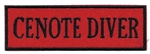 CENOTE DIVER- Red and Black stick on patch