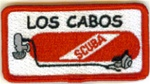 Mexico - Los Cabos Scuba Tank Patch - with stick on backing.