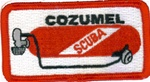 Mexico -Cozumel Scuba Tank Patch with stick on backing