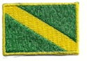Nitrox Dive Flag Patch - 1.5 x 1 SMALL stick on NITROX dive flag patches - 10 patches