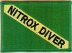 Nitrox Dive Flag Patch Embroidered Patch with NITROX DIVER on it.