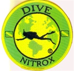 Nitrox- Dive The World Patch