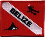 Belize Dive Flag Patch