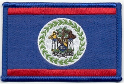 Belize Country Flag Patch 3.5 x 2.25