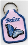 Belize Butterfly Key Ring Pink
