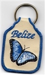 Belize Butterfly Key Ring Tan