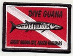 Bahamas Dive Guana Scuba Patch
