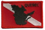 Canada Quebec Dive Flag Patch