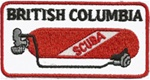 CANADA BRITISH COLUMBIA  SCUBA TANK PATCH