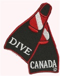 CANADA Dive Fins Patch