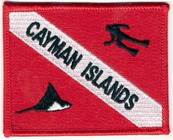 Cayman Islands Dive Flag Patch