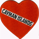 Cayman Islands Heart Patch