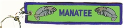 Manatee Key Ring Green Background