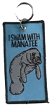 MANATEE KEY RING - Blue - I SWAM WITH MANATEE