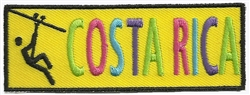 COSTA RICA EMBROIDERED PATCH - YELLOW
