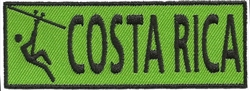 COSTA RICA EMBROIDERED PATCH - GREEN