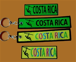 COSTA RICA ZIP LINE SET - KEY RINGS AND PATCHES