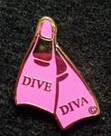 DIVE DIVA LAPEL PIN - SMALL