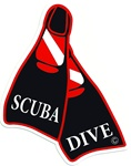 SCUBA DIVE FIN DECAL