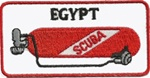 EGYPT SCUBA TANK PATCH