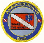 Advanced Rescue Diver Patches.