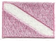 Dive Flag Patch - 1.5 x 1 SMALL- Pink and WHITE -  WITH STICK ON BACKING- 10 PATCHES