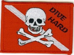 Dive Hard Dive Flag Patch