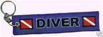 Scuba Diving Key Ring - Zipper Pull- Blue -Wholesale Price