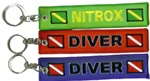Scuba Diving Key Ring- Zipper Pull - Receive all three key rings.