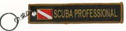 Scuba PROFESSIONAL - Key Ring - BLACK