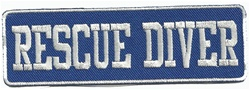 Rescue Diver - Blue and White