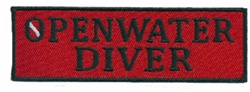 OPENWATER DIVER - Red and Black stick on patch - WHOLESALE - 20 PATCHES