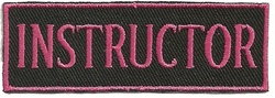 DIVE INSTRUCTOR - EMBROIDERED PATCH - PINK AND BLACK