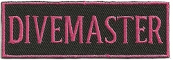 DIVEMASTER - EMBROIDERED PATCH - PINK AND BLACK